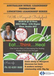 Margaret Bridgeford ARLF Lunchtime Leadership Series flyer